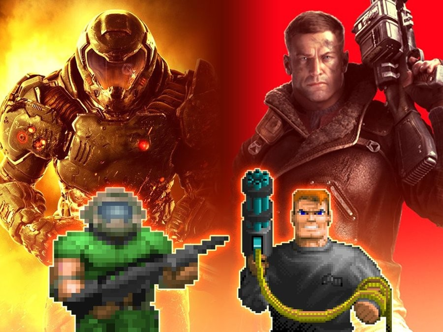 The Kings of FPS. Sauce: .. that doom beta was . wolfenstein was good though
