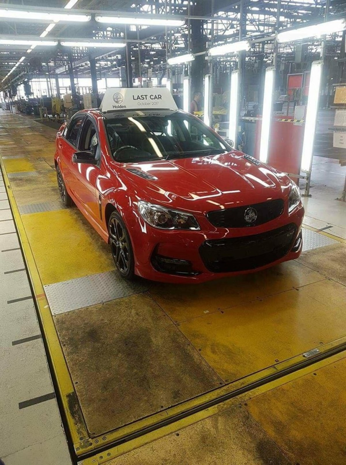 The last Aussie built Commodore. .. Good. The company's been mooching hundreds of millions off the government to keep operating but still couldn't make it work. People stopped buying large family