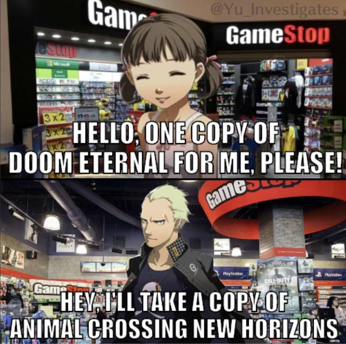 The latter is believable. join list: PersonaPosts (493 subs)Mention History.. Kanji would be a massive Animal Crossing fan.