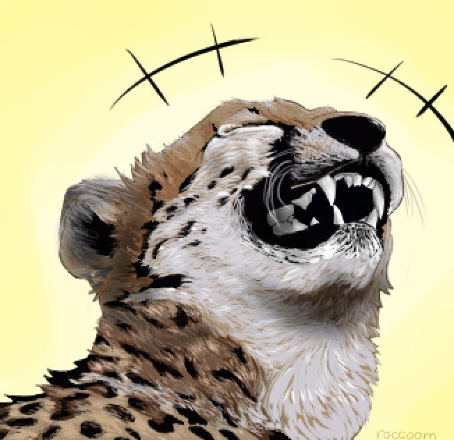 The laughing cheetah. I was inspired by the picture of cheetah and decided to draw him. It took me a hell of time to complete.. Mfw I yank this meme for myself