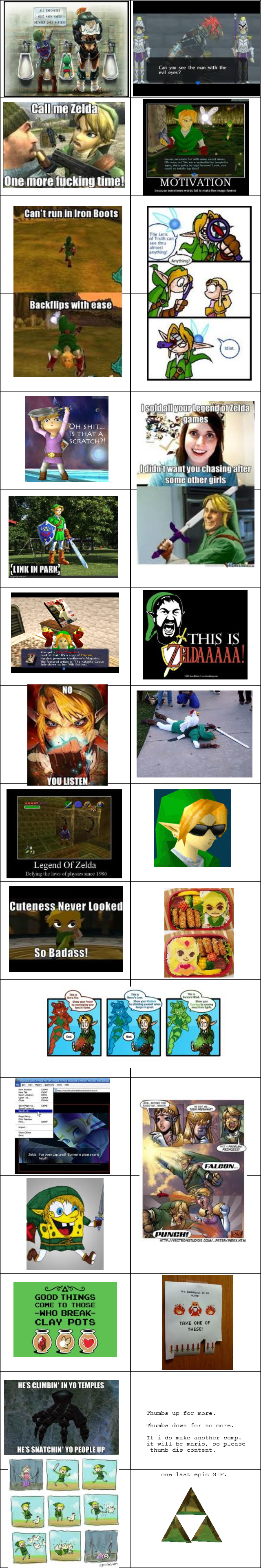 """The Legend of Zelda comp.. .. I lost it at """"snatchin yo people up"""" XD"""
