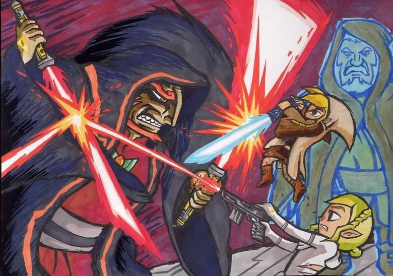 The Legend of Zelda x Star Wars. Awesome cross over More alternate art here! ==>.. Star Wars crossover is best crossover