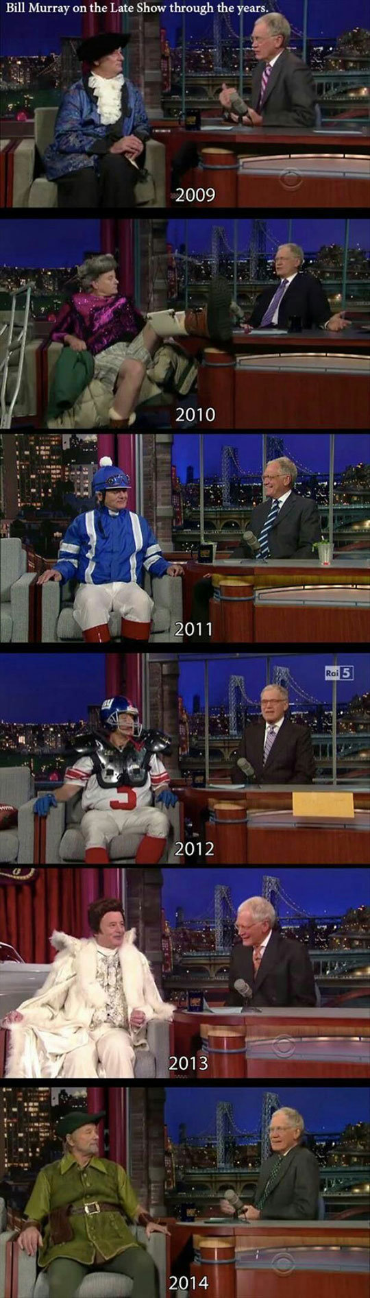 The Legendary Bill Murray. . on the Late Show through thebeard,, 2009 2011 2012