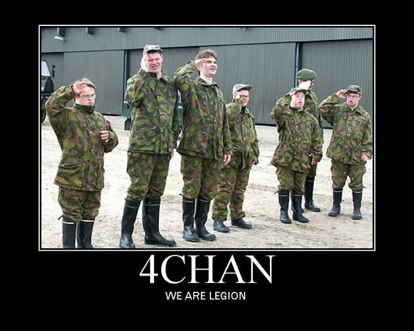The legion of 4chan. sorry if repost. WE ARE LEGION