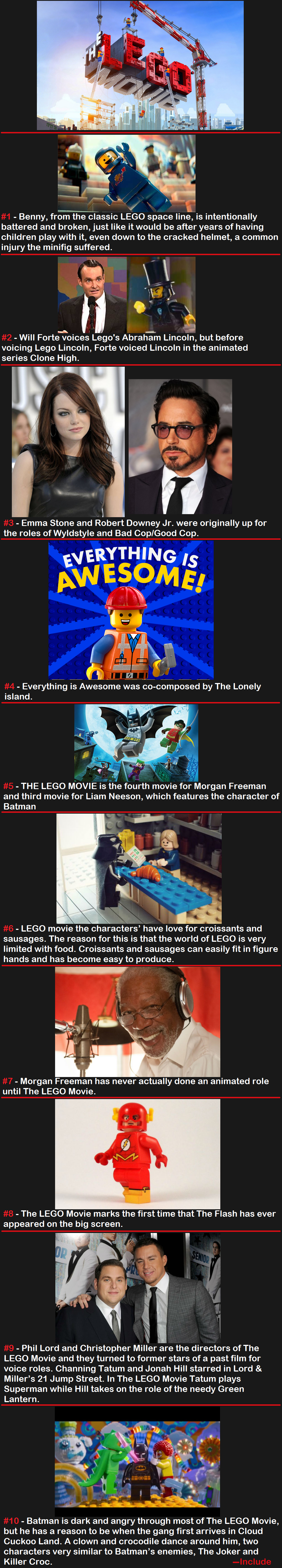 The LEGO Movie. Subscribe for more comps Thank for viewing ^_^.. As a Dane I can confirm noone in Denmark noticed this movie was special for being centered around LEGO until the internet pointed it out. Not because it was ill