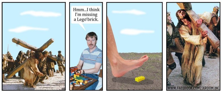 The lego of the Christ. Credits go to Jeroom. I' m missing a Lagd' brick.. i wanted to comment on this because empty comment bars make me sad :(