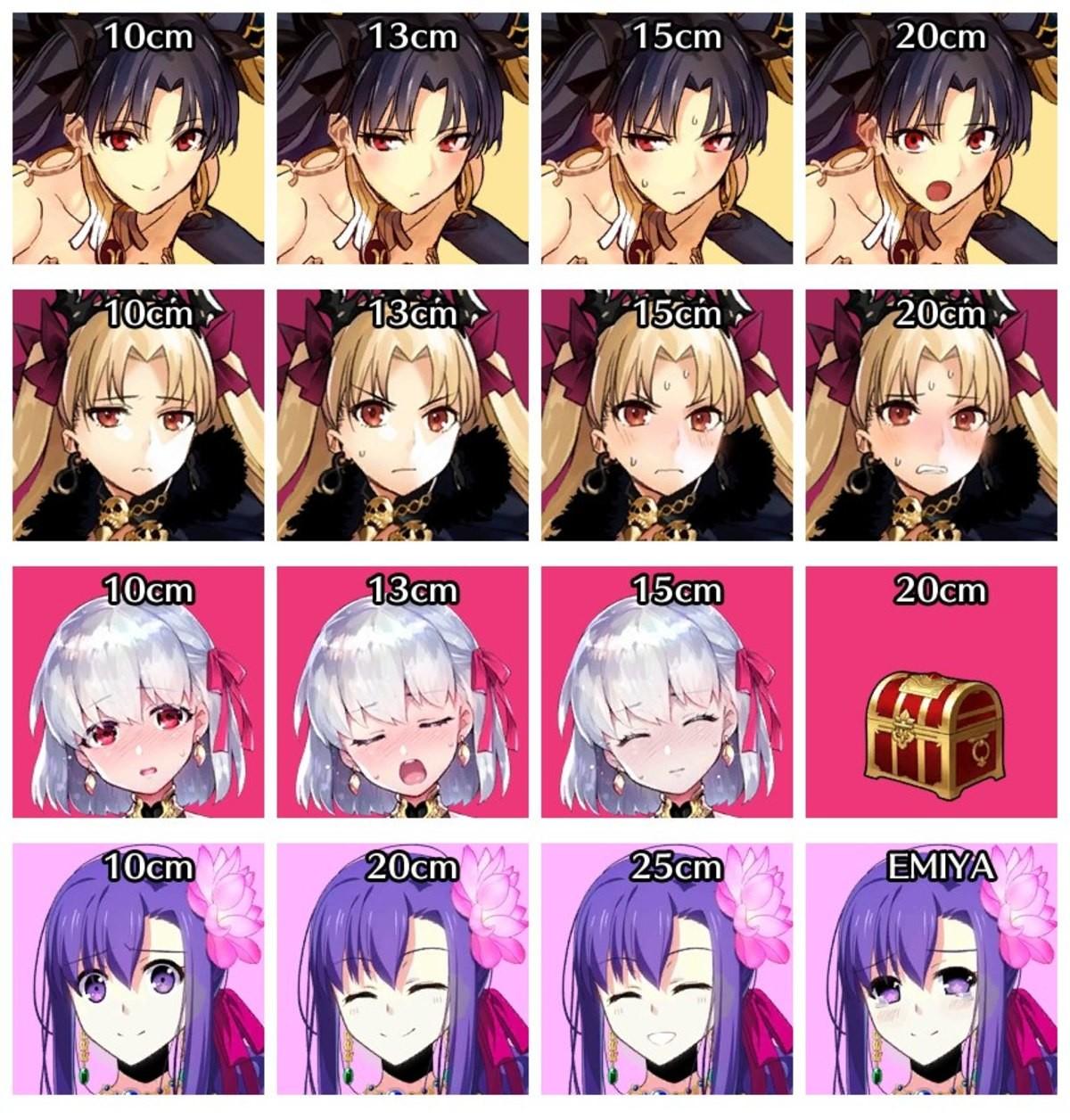 The Length. .. I'm guessing top 2 are Tohsaka and bottom 2 are Sakura?