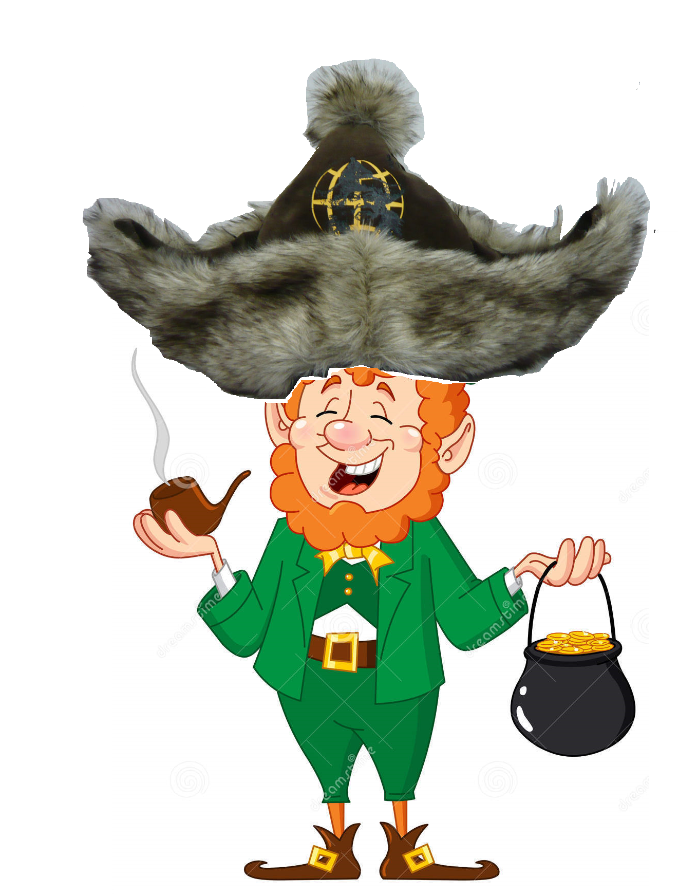 The lesser known Leprekhan. Awww yiss, the stupid result of my sleepy mind, enjoy, stare or whatever. Also, sorry about the lack of transparency usage, or cente