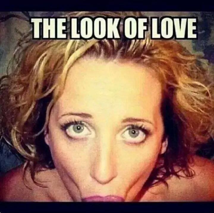 The look of love. Not a shred of self dissapointment or nothing else.. Hohoho iz funny because its a girl giving a blowjob, and blowjob is more commonly associated with lust rather than love! hohoooooe!