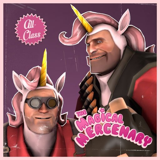 The Magical Mercenary. You see this? It was added to TF2. People mad, people so mad. I personally find it fun to watch people get mad Easy fix as well, just get