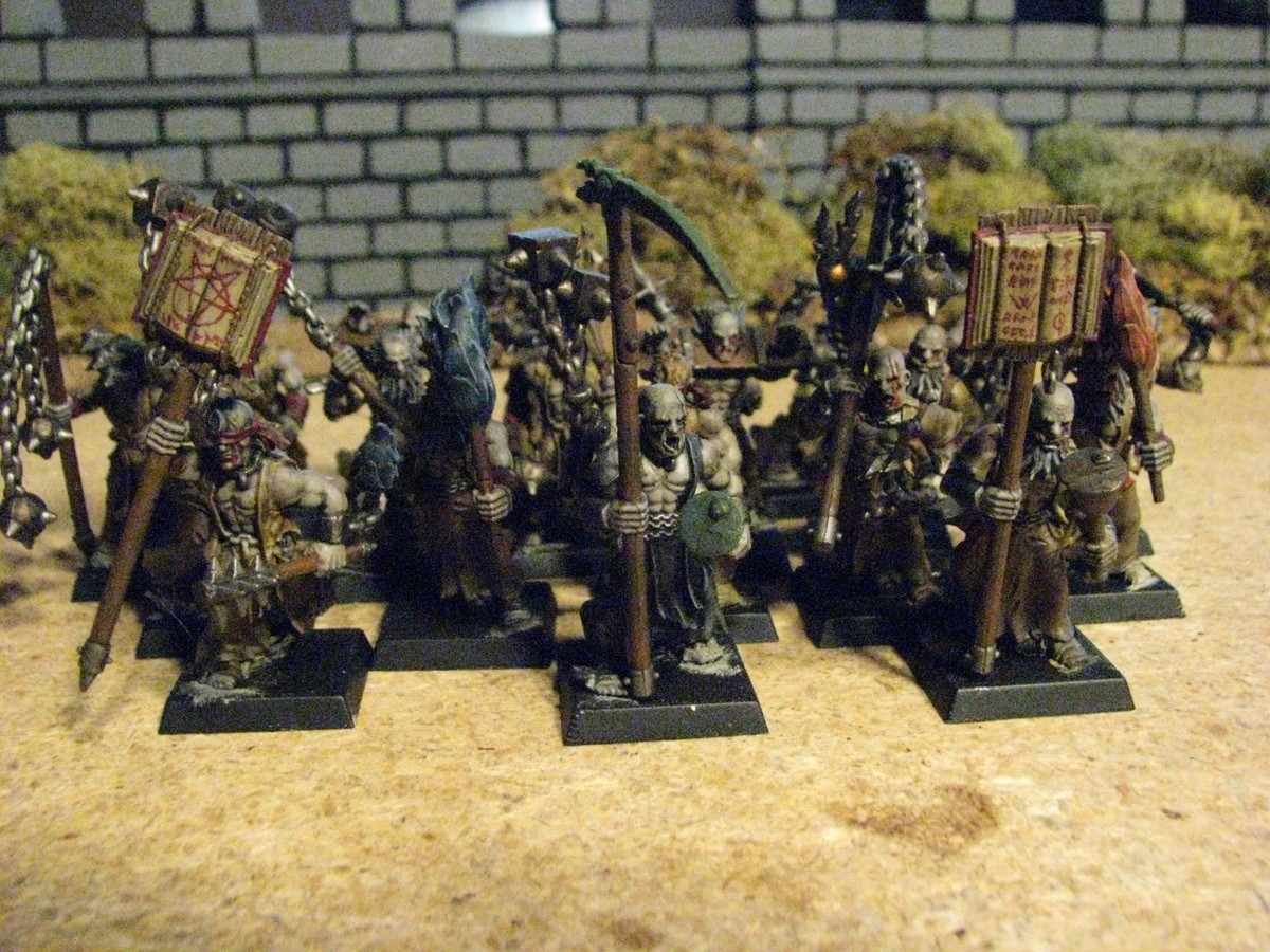 The mob is here. .. Not a fan of these models, but the painting is nice, especially the freehands on the books.
