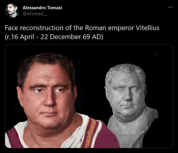 """the modern day Vitellius. .. """"How does it feel to live long enough to see all your favorite empires go down in flames?"""" """"Feels great."""""""