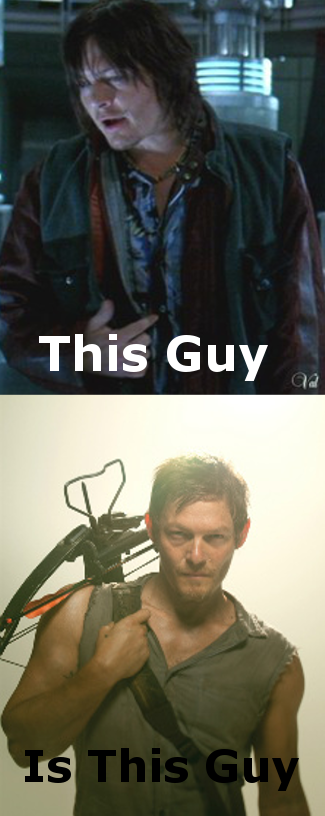 The moment you realise.... That the guy who played Scud in Blade two, is also Daryl Dixon from walking dead. I didn't realise until now. Thought I'd share it... That moment when you realize all those people is Eddie Murphy