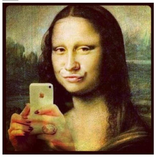 The Mona Lisa today. Shoot the ducks!.