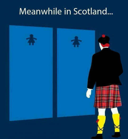 The most manly of skirts. . Meanwhile in Scotland.... never NEVER Insult the kilt
