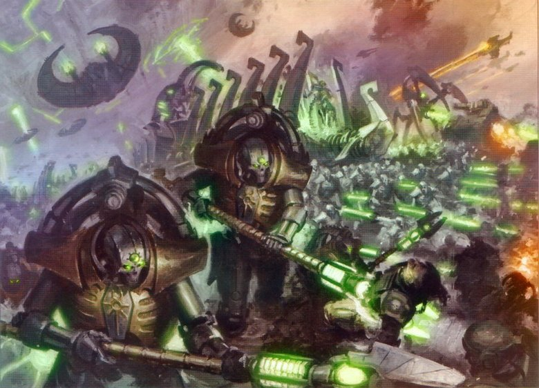 The Necrons. Hello all. I thought I'd make a little Necron tribute in my spare time. Hope you Enjoy! (Left) Canoptek Scarabs break down matter, both living and