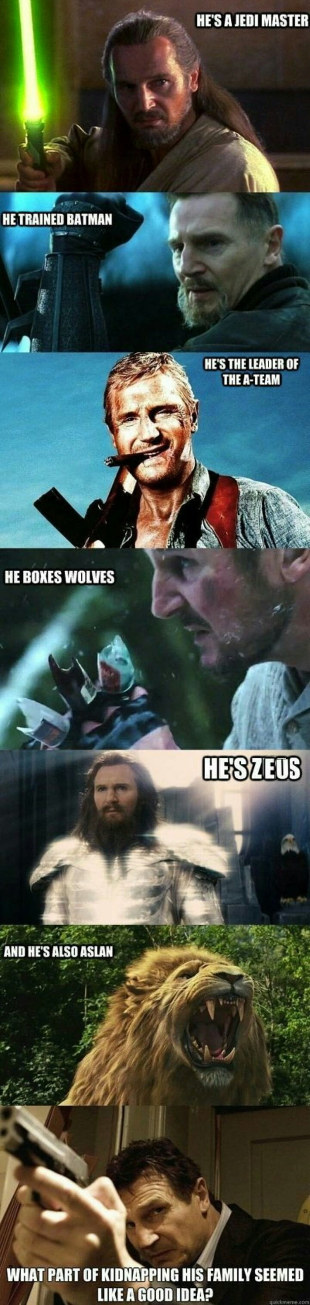 The Neeson. . if q THE ISHAM WHAT pm or . MS SEEM!!! I um new mus». He's your dad in Fallout 3.