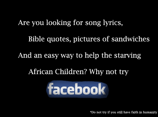 The new facebook marketing trick. This message has been brought to you by tags 100% OC. Are you making for song lyrics, Bible quotes, pictures of sandwiches And