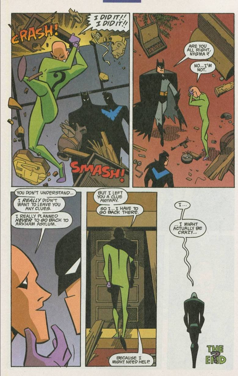 the riddler. . WENT 'TU [WIFE YIN I REALLY i Ta an anon: animae . stati. God damn, do i love DC Comics.