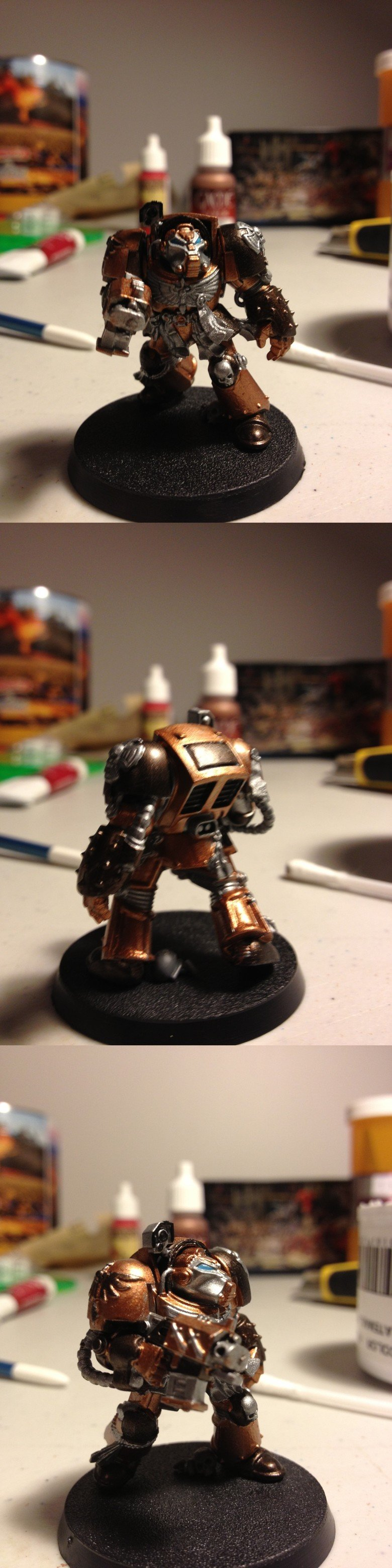 The Terminator of Brass. And 2brass/1black mixture, along with silver and 'enchanted blue.' I feel that this one is much better than the first two units I did.
