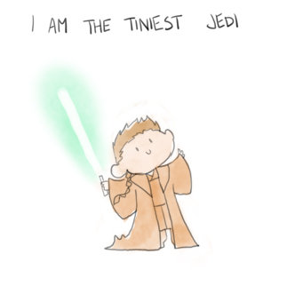 The Terrific Tales of The Tiniest Jedi. Tale Source: and yes I have been to imgur... 10/10