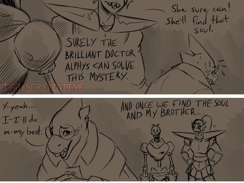 The Thought Part 7. I claim NO ownership, the comic belongs to Tratser tratserenoyreve.tumblr.com/ Part 1 & 2: Part 6: Part 8: .. Oh look an artist who actually got Papyrus' level of being naive down for once. Neat