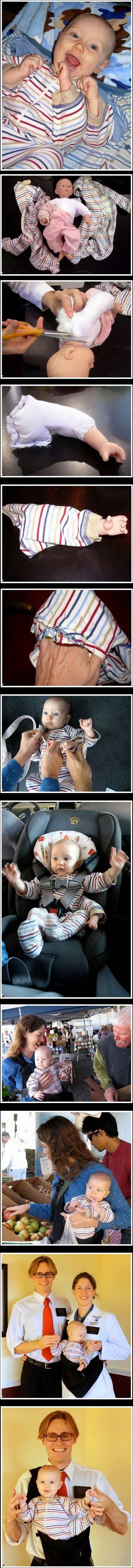 The three handed babby. Creepy as ... But why?