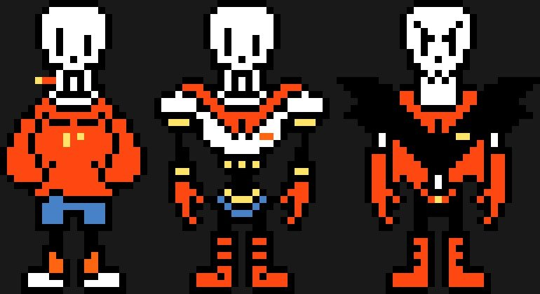 the three paps. .. Underfell Papyrus tho