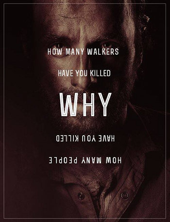 The three questions. Found on a comics site The three questions of Rick. Hm tiw KILLED WHY INTI Mhl / AMEN hyolol. seems like reversed text makes lightbulb a funny christian