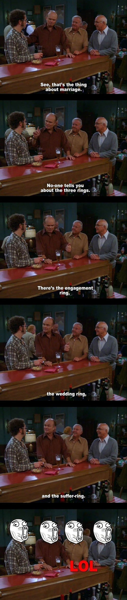 the three rings. . See, that' s the thing about marriage, Hastune tells gnu about the three rings. There' s the engagement . the wedding ring, and the .. Was the use of ragefaces really necessary?