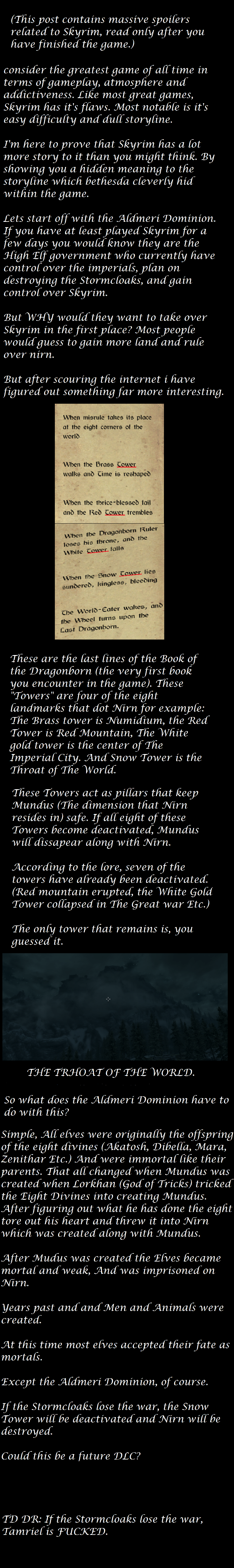 The Thruth behind the Thalmor. 100% OC. T Ms post contains massive spoilers re[ ated to Skyrim, readon[ y after you game.) consider We greatest game of ad time