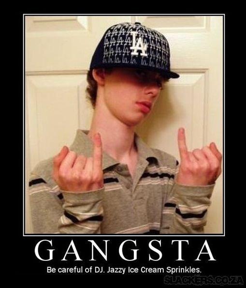 The thug life has chosen. . Be careful of DJ, Jazzy Ice Cream Sprinkles.. Pinky up bitch!