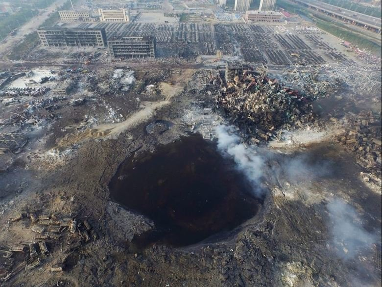 The Tianjin Crater, China explosions. .. When she says shes a virgin