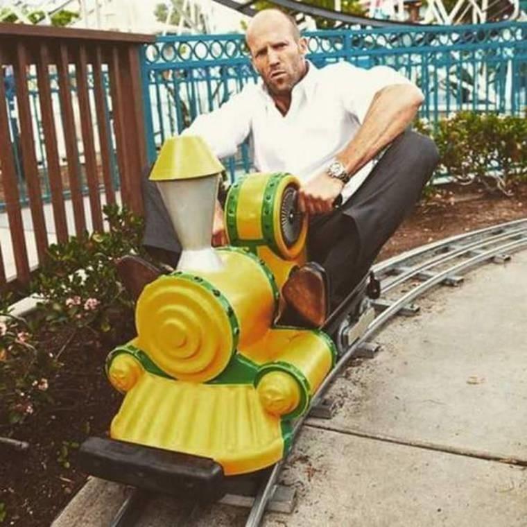 The Trainsporter. .. Jesus Christ, that's Jason Statham