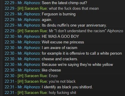 The Transformation. tfw your non-black friend has lived in a fortress for so long that he refers to himself as black without even realizing it. Also OC. I guess