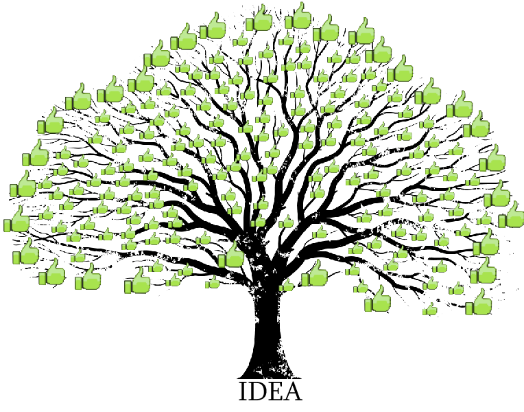 The tree of thumbs. I really like this picture I made. It really shows how an idea can grow and be something great. Well in my opinion that is. I really hope yo
