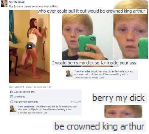 The true king. DAYUM SON.... Sarah Mt: Me like 3. share Haunts : thunk my ever twirl pull it out wiuld be HEW I berry my dick so far -rifest, your ass tss Oort,