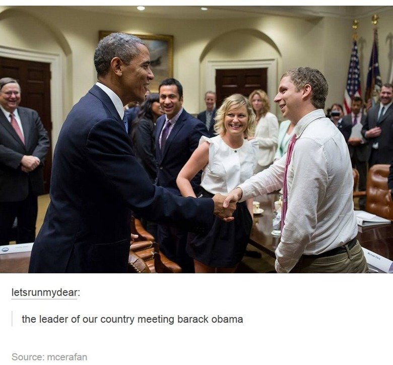 The True Leader. . the leader of our country meeting barack ' I'