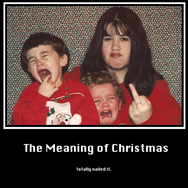 The True Meaning of Christmas. . piti- tatt: The Meaning of Christmas Tatally nailed it,. That's kind of sad.