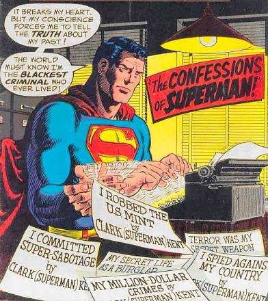 The truth comes out!. This is the nasty side of Superman. You'll find a lot more of these on superdickery.com. I'm just uploading my favorite ones..
