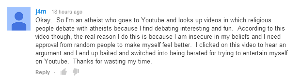 The Truth. I found this comment on some Dota2 vs. LoL video.. Hm lfl hours age Okay. So I' m an atheist who gees to Youube and looks up videos in which religiou