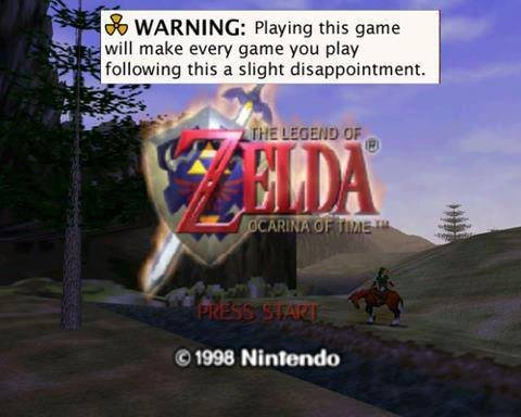 The Truth. People treat OoT like the holy grail of gaming.. WARNING: Playing thia game will make eyery game yet: may following time a slight disappointment. - i