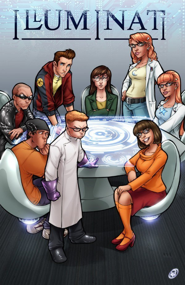 """The Truth. """"The Cast (Clockwise from top center): Daria Morgendorffer (Daria), Susan and Mary Test (Johnny Test), Velma Dinkley (Scooby Doo), Dexter (Dexter's L"""