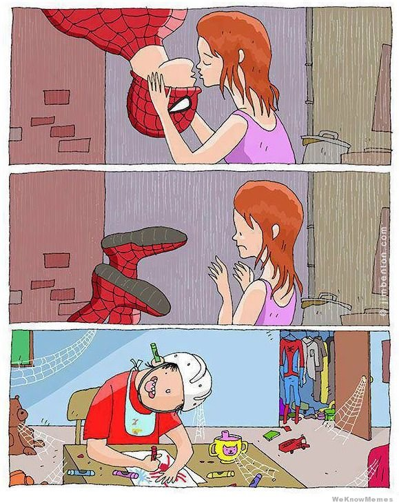 The truth. to wat happend to spiderman.