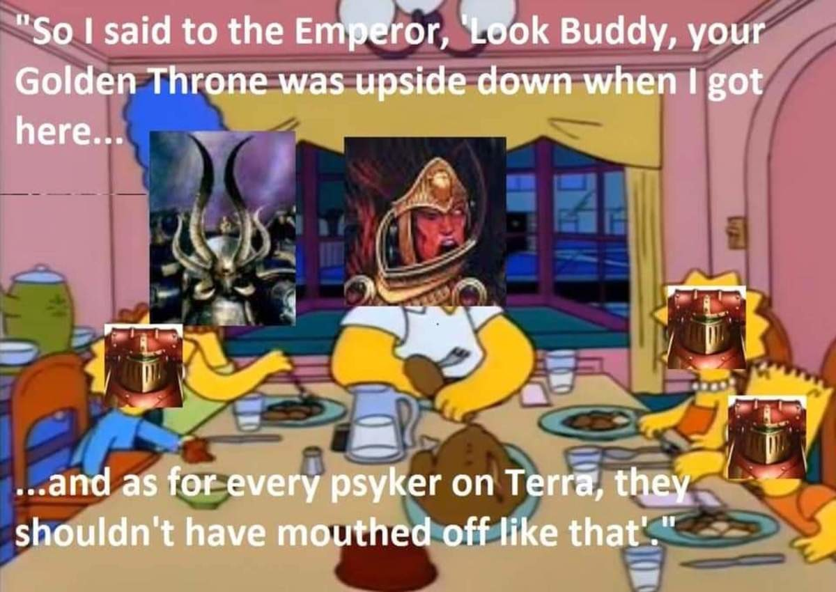 the truth. .. Look, i know what Ya'll are thinking. But the Golden Throne already was in that condition when Magnus appeared. That Rift in realspace? Also was already there A
