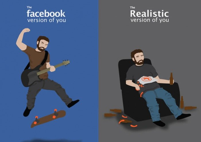 The Truth. . acebook version of you Realistic version of you. Fixed