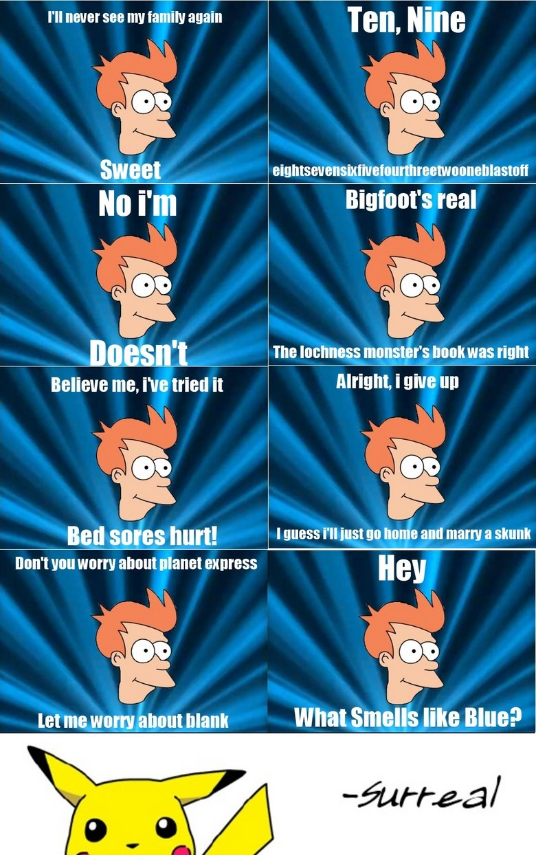 The Best of Fry. futurama is my favorite show, thought i'd make something about it.<br /> woah!! thanks you guys! i didn't expect this many thumbs, i just