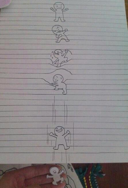 The art of imagination. Not so funny, but incredibly imaginative and awesome..