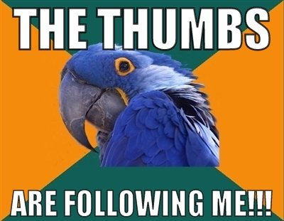 THE THUMBS. OC BY ME. THEI_ ME FOLLOWING ME!!!