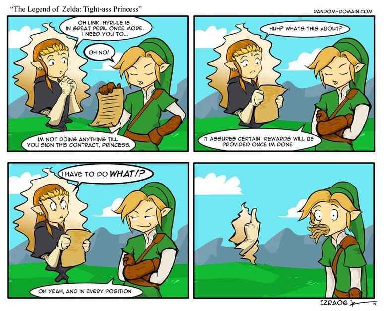 """The Legend of Zelda: Link gets Laid. not really<br /> chuck norris vs conan: <a href=""""gifs/974983/conan+vs+chuck/"""" target=blank>funnyjunk."""